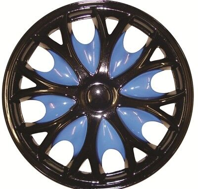 Mazda 323 F/P 15 Inch Black Blue Wheel Trims (1998-2004)