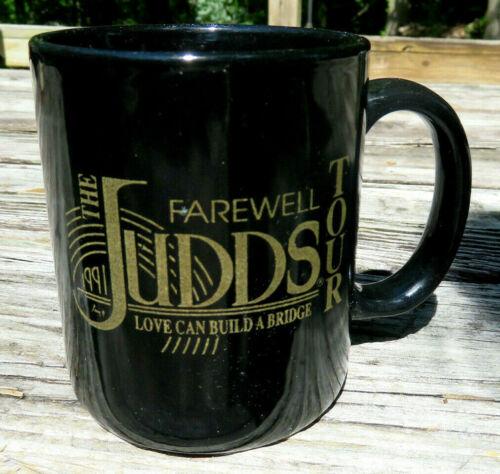 1991 THE JUDDS FAREWELL TOUR Love Can Build a Bridge Coffee Cup Naomi & Wynonna