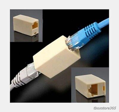 Cat5 Cat5e Rj45 Coupler Lan Network Ethernet Cable Extender Adapter Joiner US