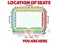 2 Liberty Stadium Gold Premier Club Seats (Swansea City AFC, Ospreys + Concerts) for life