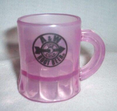 Mini Plastic Beer Mugs (A & W ROOT BEER PINK PLASTIC MINI MUG - SHOT)