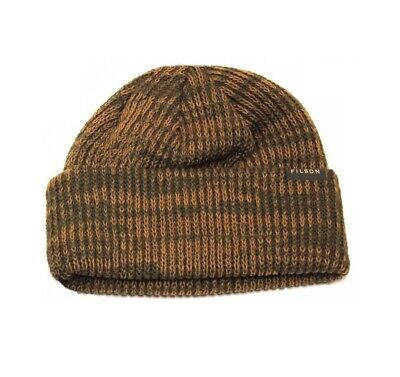 Knitting Patterns Beanie Hats (FILSON 11030235 Virgin Wool Knit Olive Green Patterned Cuff Watch Cap Beanie )