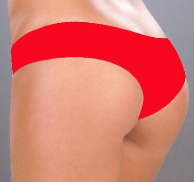 (3002 Red Booty Boy Shorts Yoga Gym Hipster Bikini Dancer RAVE S M L)