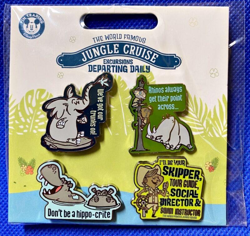 Disney Parks 4 pin set JUNGLE CRUISE Excursion  - Sealed NEW
