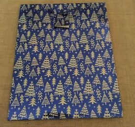 Large Sized Blue and Silver Christmas Gift Bag