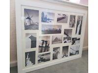 Large White Multi Aperture Photo / Picture Frame 87x67cm EXCELLENT CONDITION £10