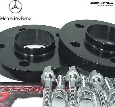 2 pc  20mm BLACK ANODIZED MERCEDES E CLASS 02-10 Wheel Spacer Adapter