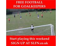 FREE FOOTBALL FOR GOALKEEPERS, JOIN 11 ASIDE FOOTBALL TEAM , PLAY FOOTBALL LONDON