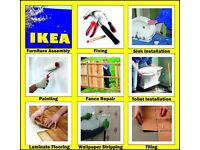 Handyman IKEA Flat Pack Assembly 24/7 Kitchen Fitting Bathroom Flooring Tiling Wallpaper Painting