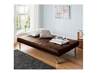 Sienna Faux Leather Chocolate Sofa bed Click Clack 3 position Brand new boxed
