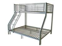 Double/single bunk bed frame