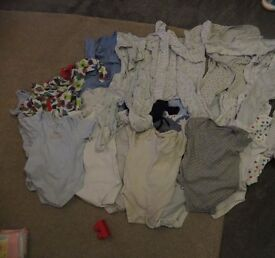 9-12 month vests and baby grows
