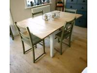 Victorian pine farmhouse table, kitchen table, extending dining table, kitchen island