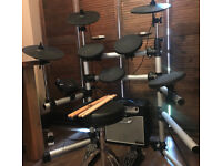 Gear4Music Digital Drums 402 Compact Electronic Drum Kit + Amp Pack £185 ONO Pick up only NG9
