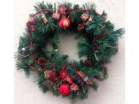 Christmas 45cm Luxury Fir Traditional Christmas Wreath Door Decoration -