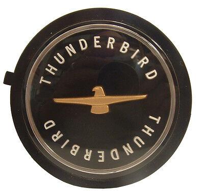 """NEW"" 1955 – 1966 FORD THUNDERBIRD WIRE WHEEL CENTER EMBLEM BLACK"