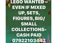 ***Lego Wanted - Even if mixed up - Large collections,figures,Cash Paid***