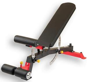 """New 2017 eSPORT Design FID  SUPER Bench / Sit UP with Leg Hold Downs 3"""" x 3"""" Frame"""