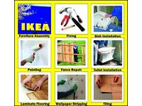 Handyman IKEA Flatpack Assembly Kitchen Fitting Sink &Toilet Installation Laminate Fixing Painting