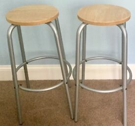 Pair of Matching Bar Stools Excellent condition Height 30in/76cm