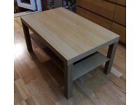 IKEA LACK Coffee Table Oak Effect with Shelf - 90cm x 55cm x 45cm