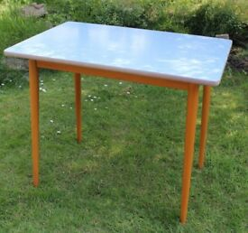 Retro Formica table, 1960s, blue