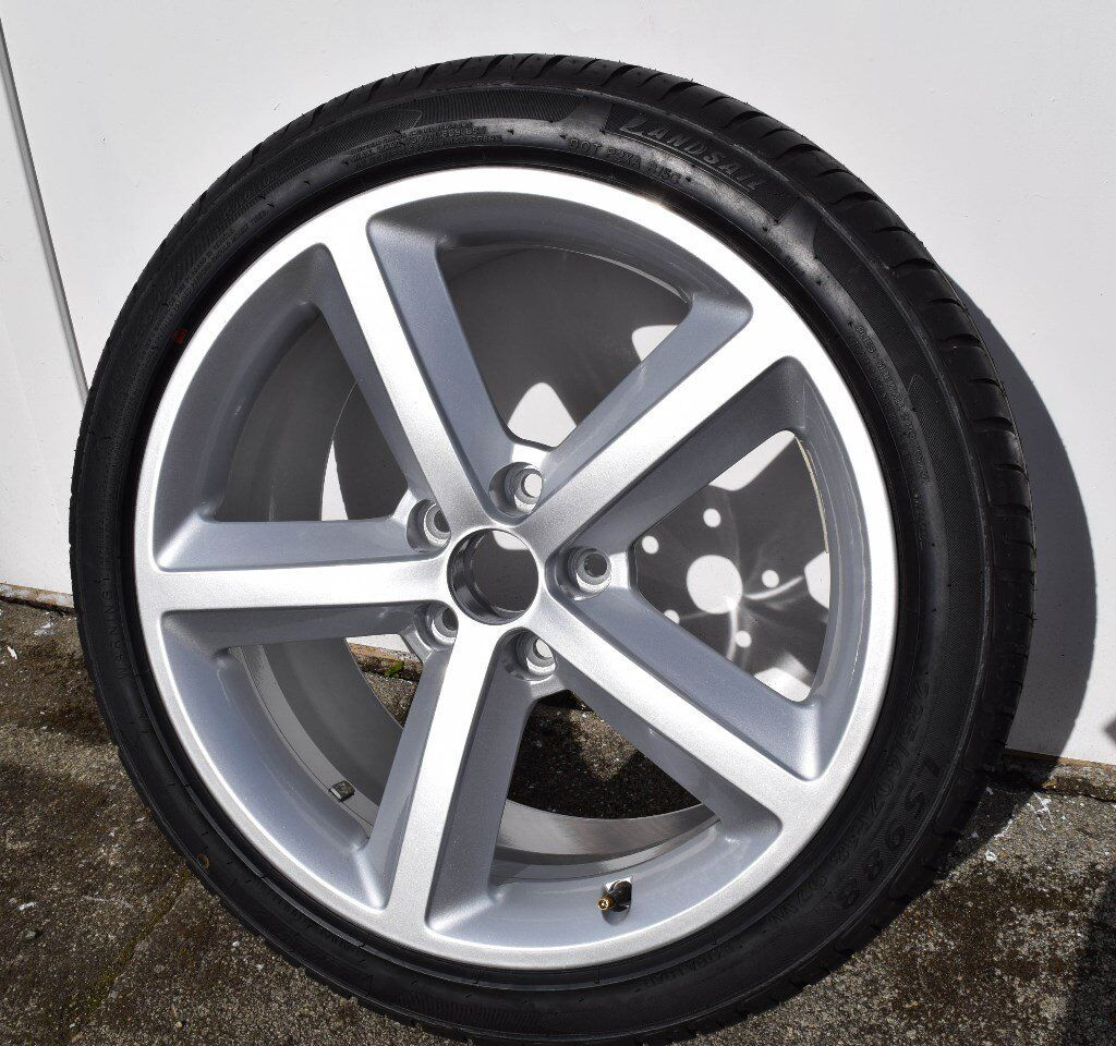 """AUDI A6 BRAND NEW ORIGINAL RONAL 18"""" ALLOY WHEEL & NEW TYRE, ET43, 4FO 601 025 DC, NEVER BEEN ON ..."""