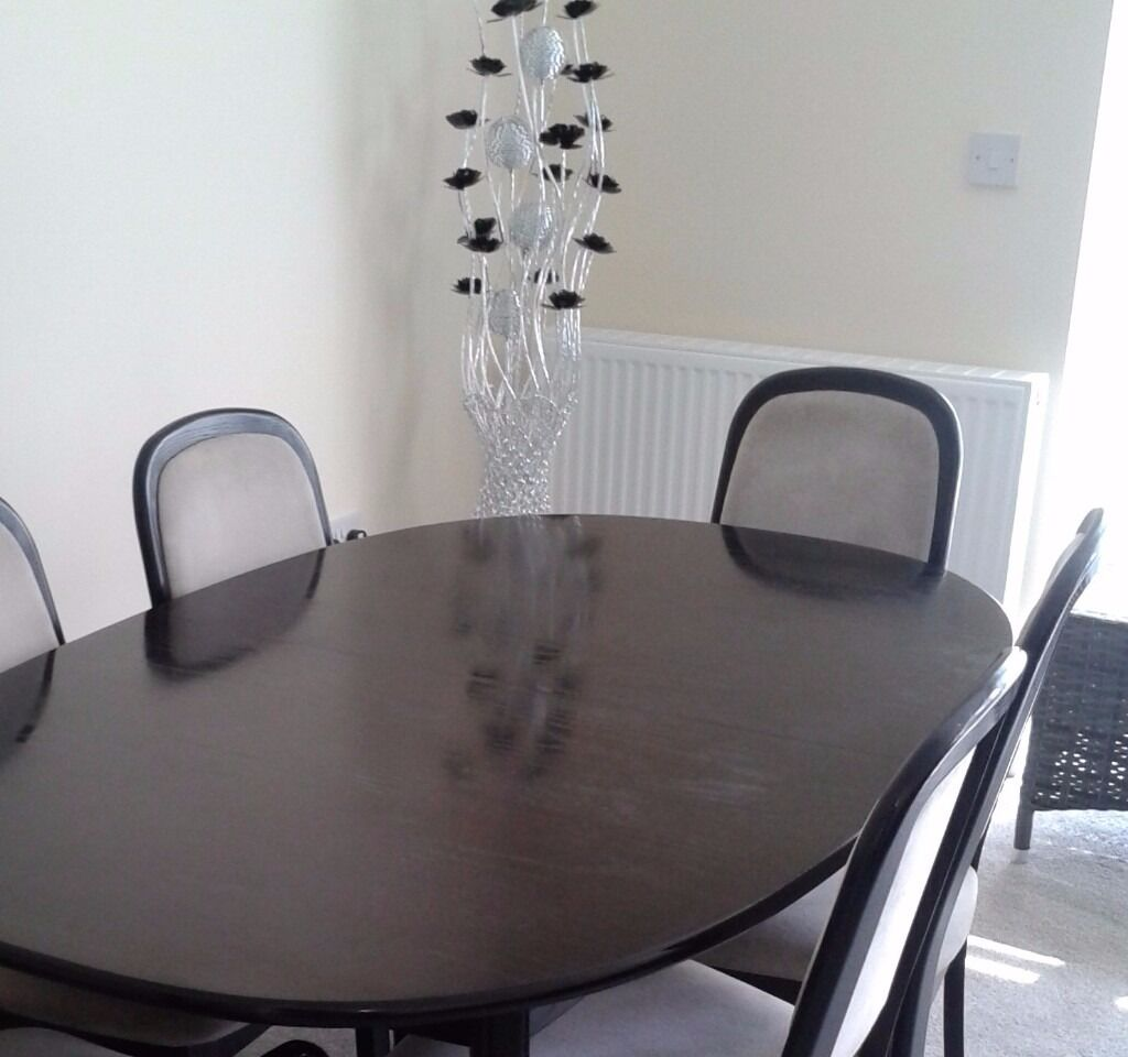 FOR SALE Black Ash Wood G Plan Dining Table And Chairs