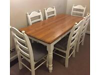 Gorgeous farmhouse style table and 6 chairs