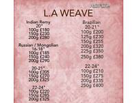 100% Human Indian Remy & Russian Gold Double Drawn LA Weave