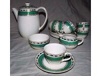Crown Ducal Coffee / Tea set comprising pot, milk jug, sugar bowl, six cups & six saucers.
