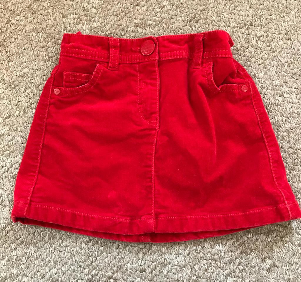 Girls Red NEXT Christmas Skirt Age 5