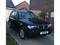 For sale black BMW X3 2.0d 2006