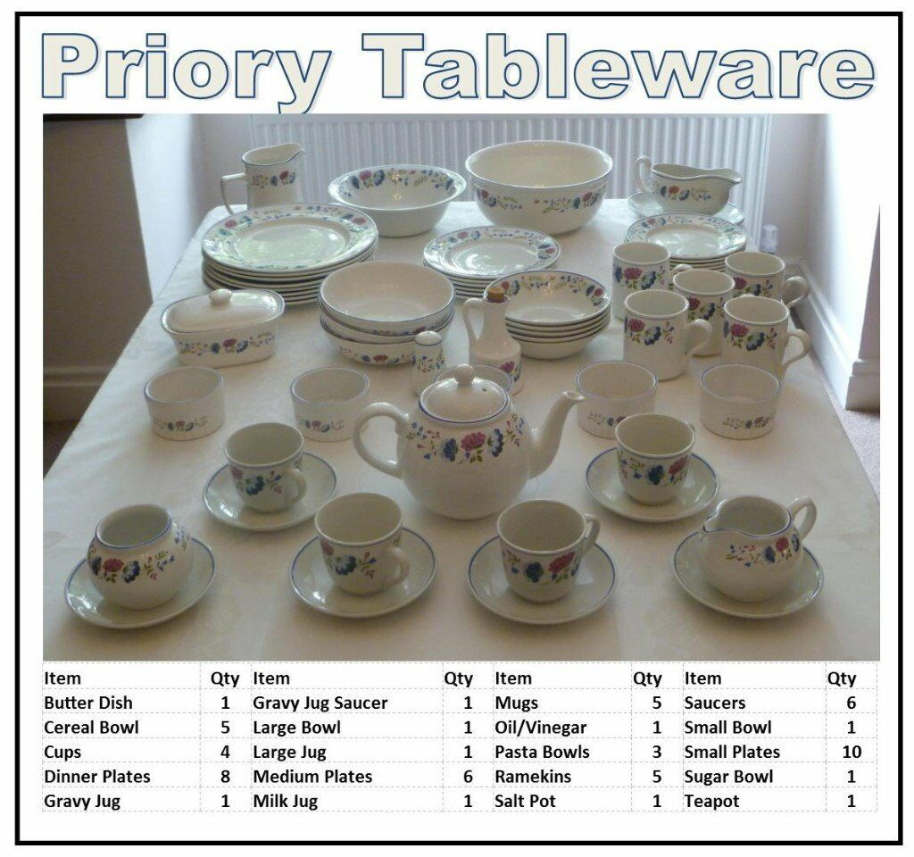 Table ware (BHS Priory)