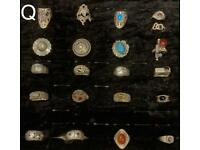 Various Indian Silver 925 Rings