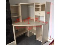 Fantastic corner workstation desk in excellent quality - very sturdy and spacious