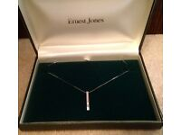 White Gold Real Diamond Necklace