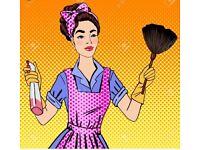Female house cleaner
