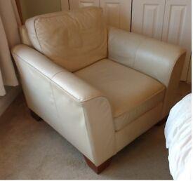 Single cream armchair