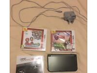 'New' Nintendo 3DS XL + 2 games and charging cable