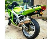 2003 kawasaki ninja 636 in candy green lots of upgrades swap px