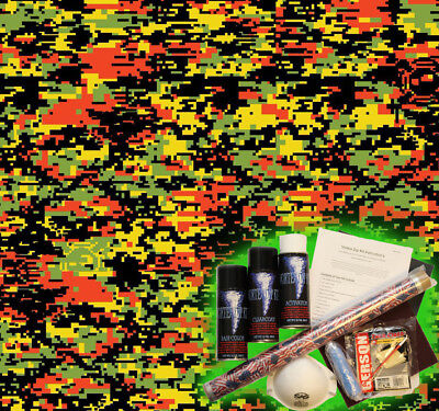 Hydrographics Dip Kit Activator Water Transfer Film Hydro Red Digital Camouflage