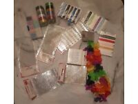 Art/craft set, gift wrapping paper plus other items