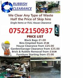 Rubbish Removals Garden or garage Clearace no job to big or small