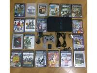PlayStation 2 Bundle - Original Fat Black Console SCPH-39003 - 20 Games & More