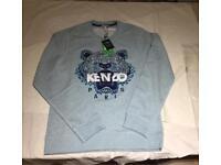Kenzo light blue tiger sweatshirt genuine new with tags RRP £165
