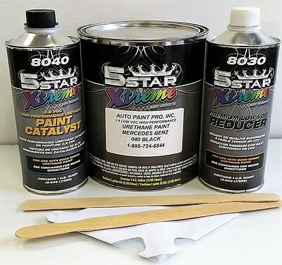 Low Voc High Performance Mercedes Black 040 Urethane Auto Paint Single Stage New For Sale In
