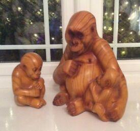 Large monkey ornaments