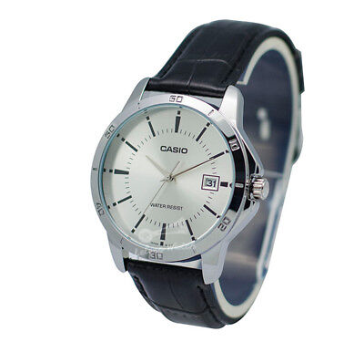 -Casio MTPV004L-7A Men's Strap Fashion Watch Brand New & 100% Authentic