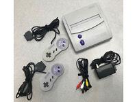 Original Super Nintendo Mini Jr (US Version) with 2 controllers, all original hook-ups
